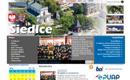 Strona internetowa Urzędu Miasta Siedlce