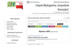 """BIP Związek Międzygminny """"Gospodarka Komunalna"""""""