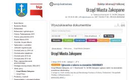 BIP Urzędu Miasta Zakopane