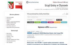 BIP Urzędu Gminy w Chynowie