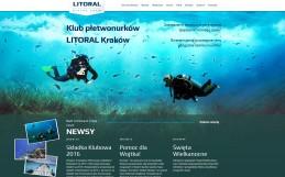 """Strona Klubu płetwonurków LOK """"LITORAL"""""""