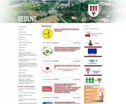 Strona internetowa Urzędu Gminy w Bedlnie