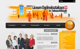 Strona internetowa Liceum Ogólnokształcącego w Lubaczowie