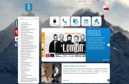 Strona internetowa Urzędu Miasta Zakopane