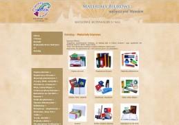Strona internetowa firmy Chomik Materiały Biurowe