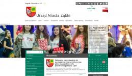 Strona internetowa Urzędu Miasta Ząbki