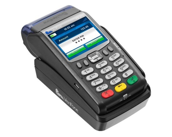 Mobile Paytel Verifone VX 675 payment terminal - small and portable
