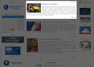 widok gotowej treści na stronie internetowej