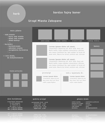 Projektowanie układu logicznego witryny
