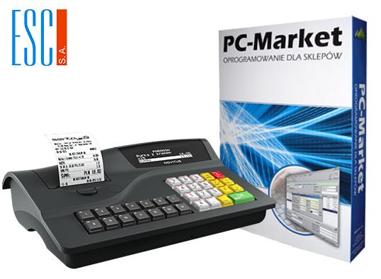 PC-Market 7 w zestawie z kasą fiskalną - Profesjonalne stanowisko sprzedaży promocyjnej cenie !