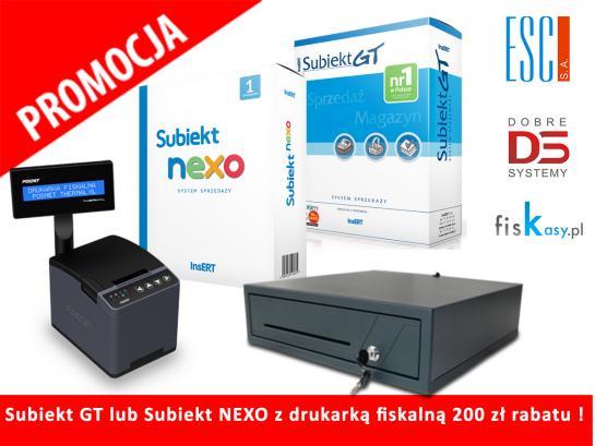 PROMOCJA ! Subiekt GT lub Subiekt NEXO z drukarką fiskalną 200 zł rabatu !