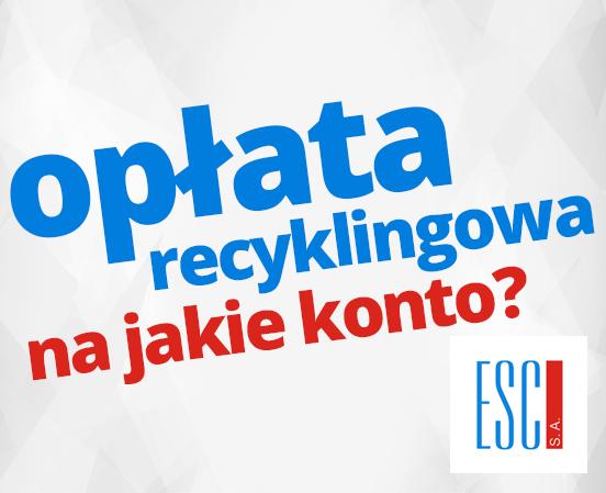 opłata recyklingowa - na jaki numer konta wpłacić