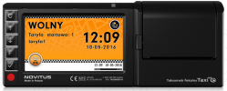 Taksometr fiskalny z ekranem dotykowym Novitus Taxi e